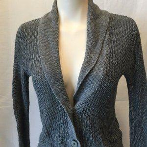 American Eagle Women's Gray Button Down Long Sleev